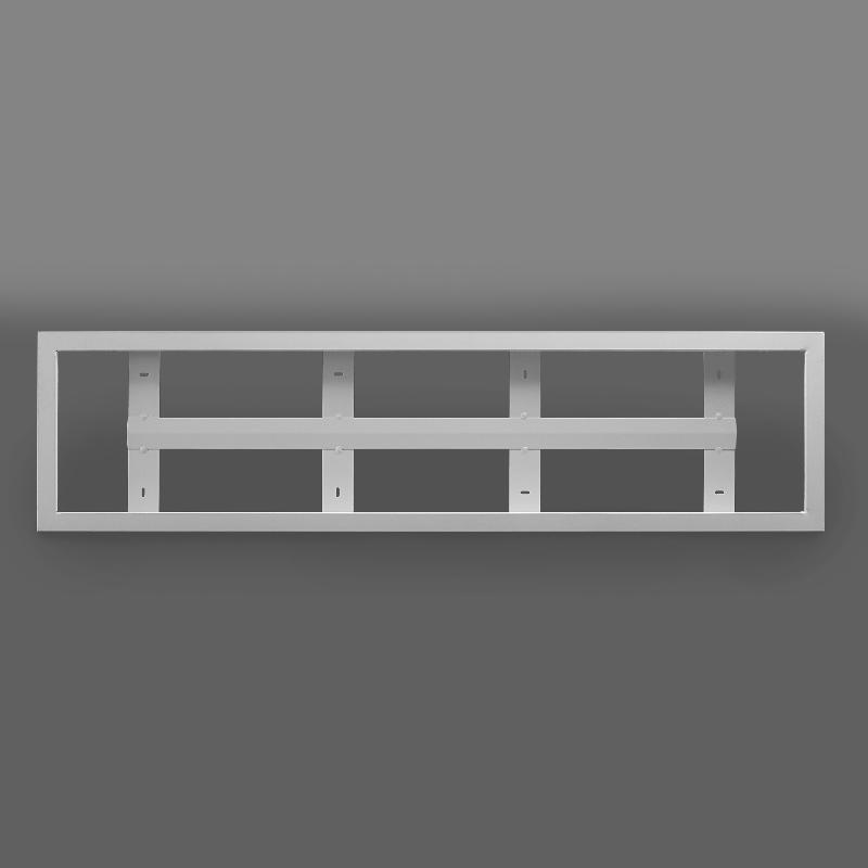 aufbaurahmen f r led panels 120 x 30 cm silber wir sind heller shop 108 14. Black Bedroom Furniture Sets. Home Design Ideas