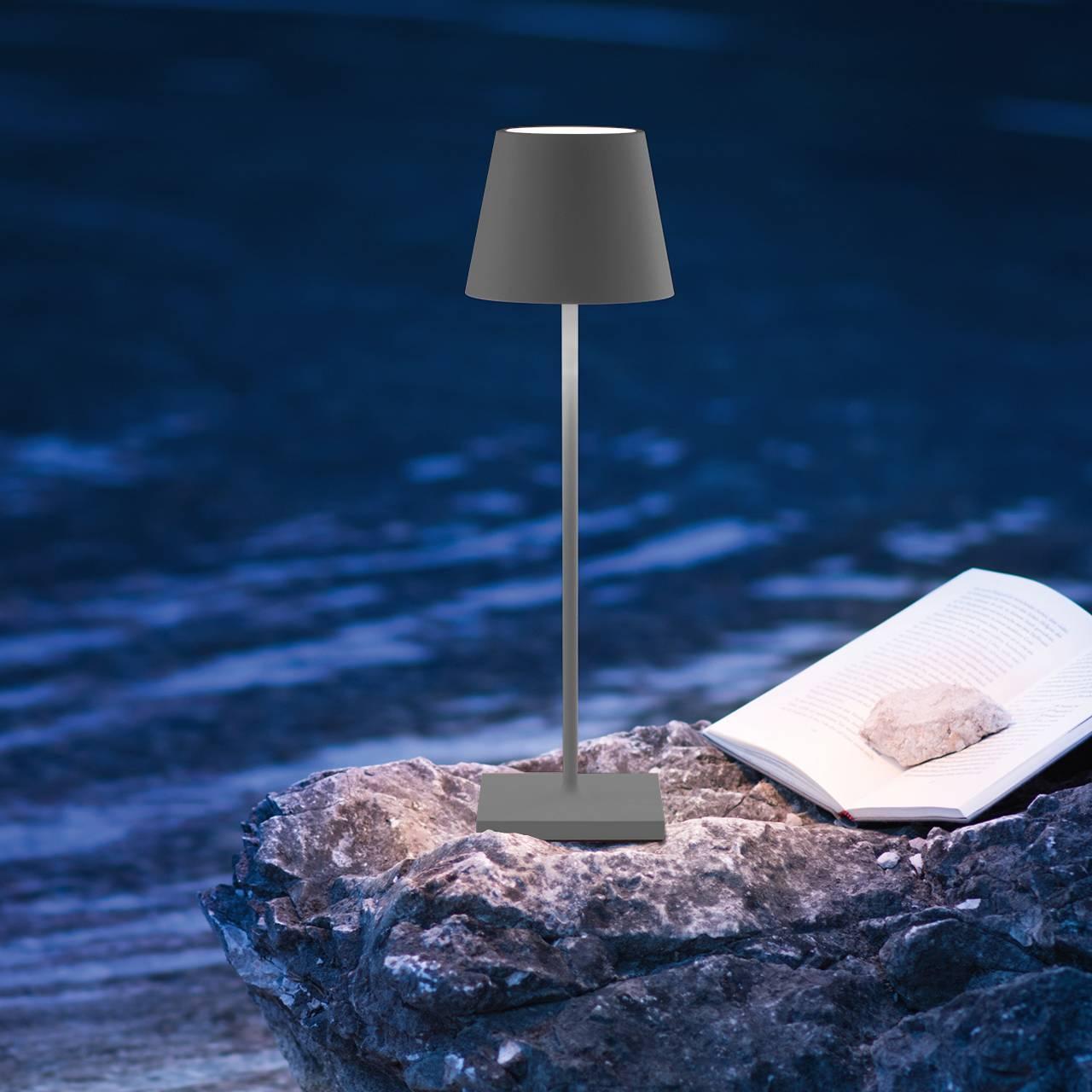 LED Akku Tischleuchte Outdoor Indoor anthrazit