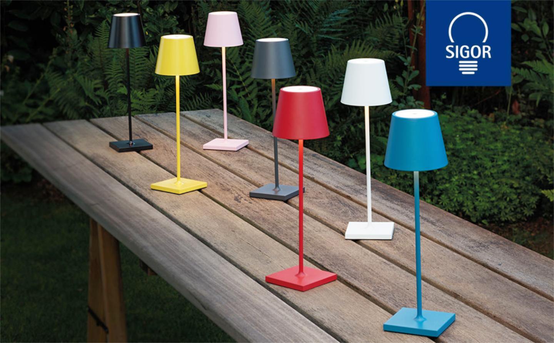 Sigor Nuindie LED Akku Tischleuchte verschiedene Farben