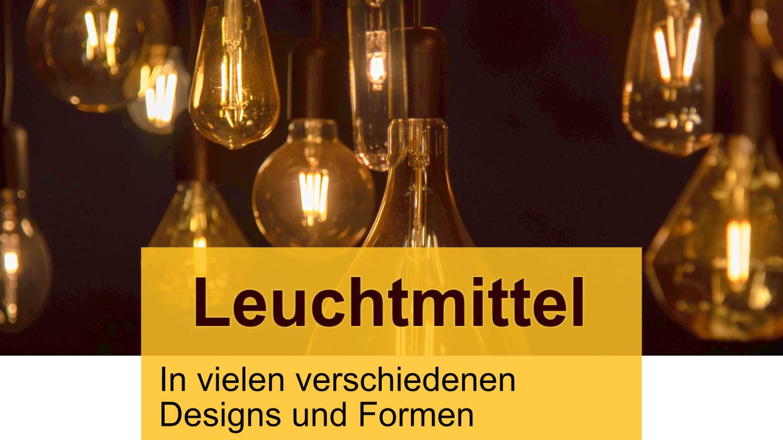 LED, Leuchtmittel, Glühbirnen, Glühlampen, Lampen, Filament, E27, E14, GU10 Sockel, Fassung