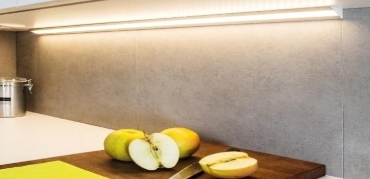 LED-Profil-Anwendung-Küchenarbeitsfläche